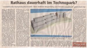 Kreisbote 04. November 2015: 'Rathaus dauerhaft im Technopark?'